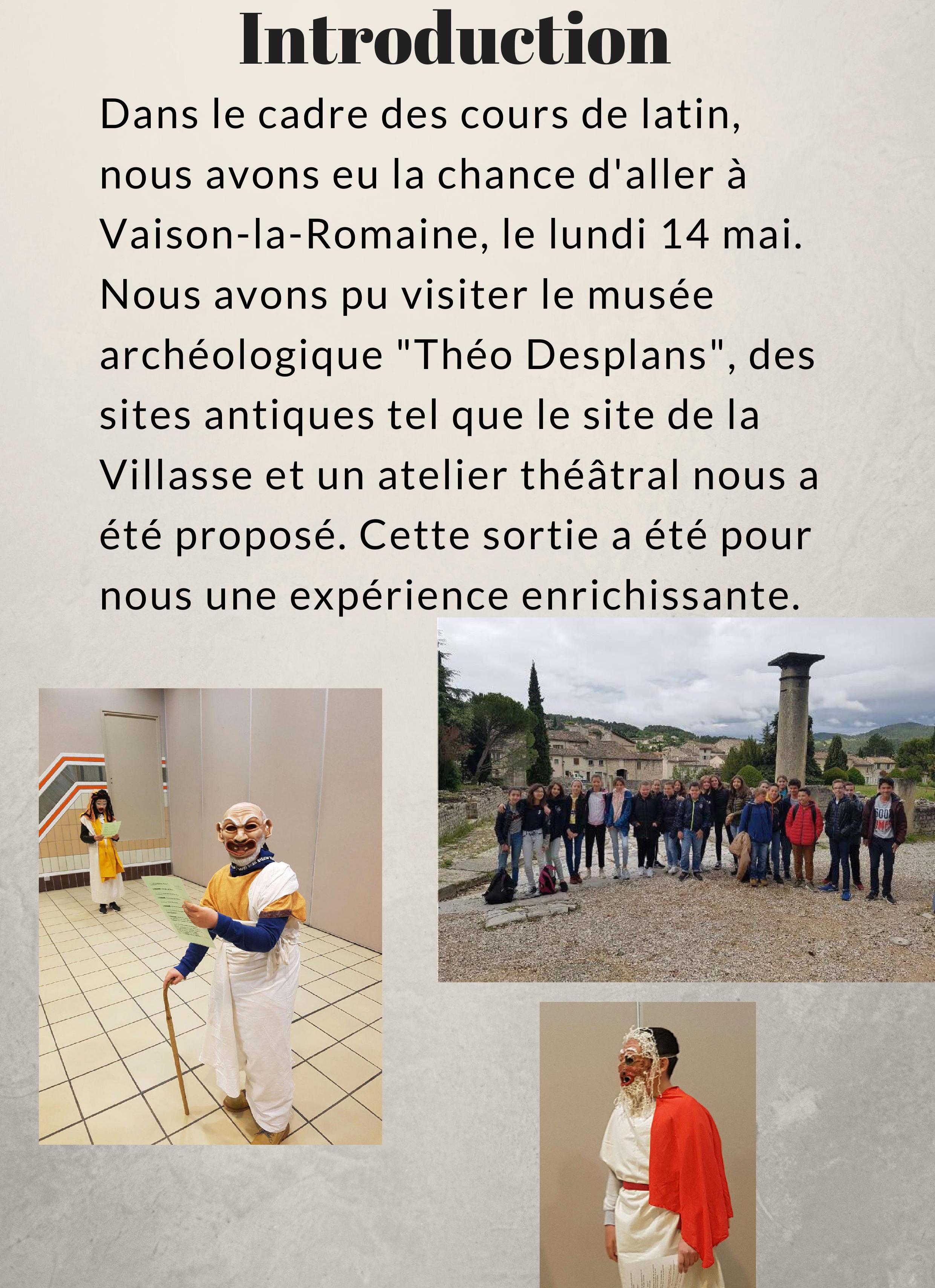 Latin Vaison la Romaine