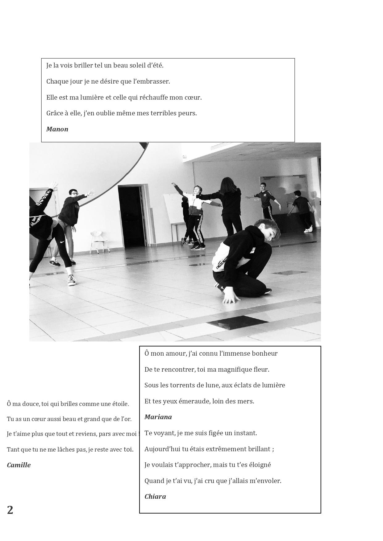 Article DIre Ecrire lire danser