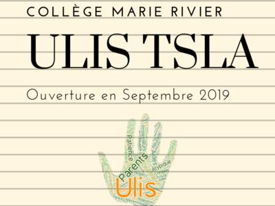 ULIS TSLA au collège Marie Rivier