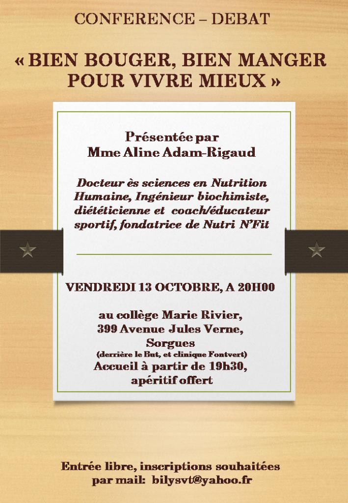 Conférence-débat du 13 octobre