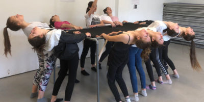 Dernière répétition des danseuses de l'Association Sportive