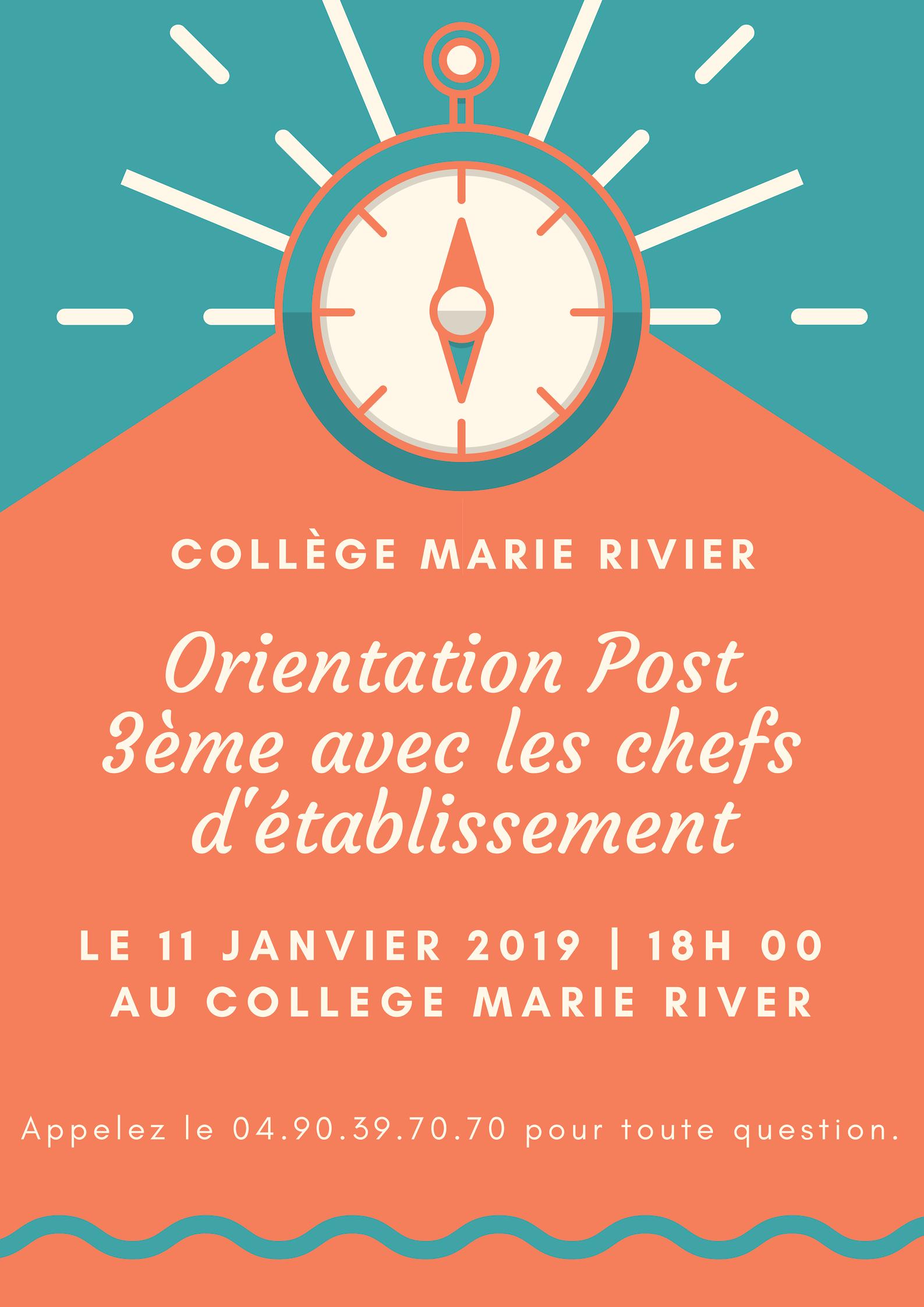 Orientation POST 3eme : première étape : Présentation des Lycées Privés