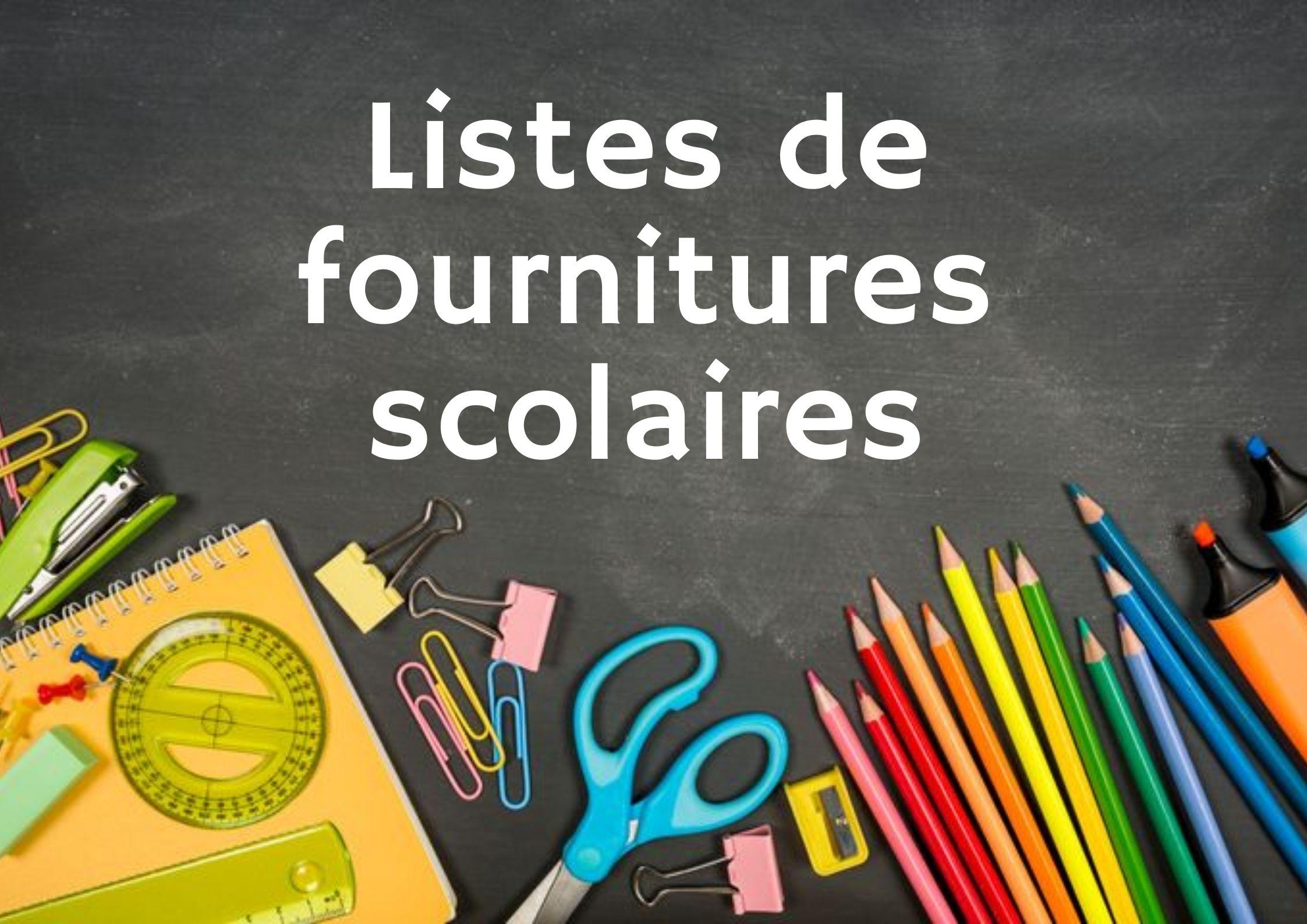 Listes de fournitures scolaires