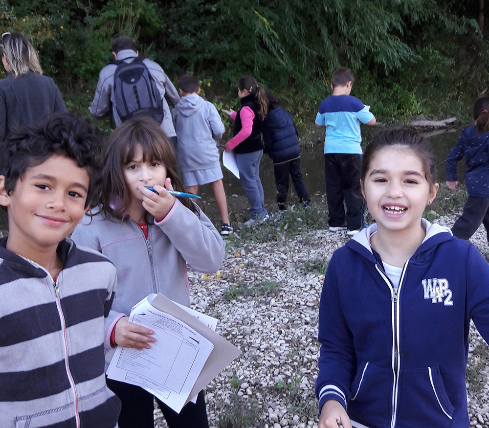 Les élèves de CE1 et CE2 en sortie au parc municipal