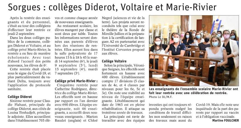 Presse Marie Rivier