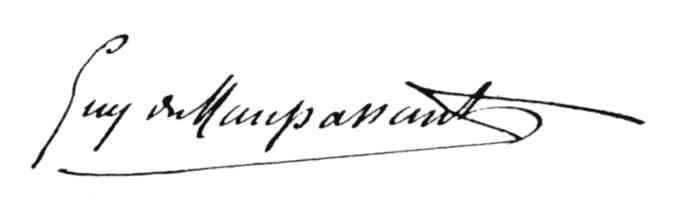 Signature de Guy de Maupassant