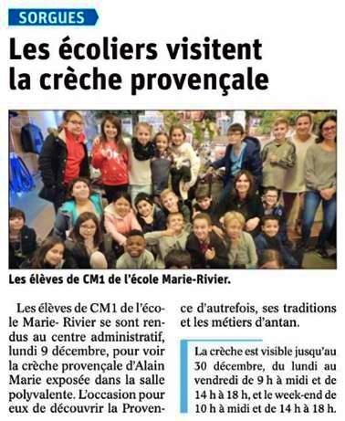 Nos CM1 à la découverte de la Crèche Provençale